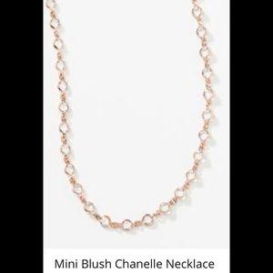 Mini Chanelle necklace Swarovski BNIB blush rose